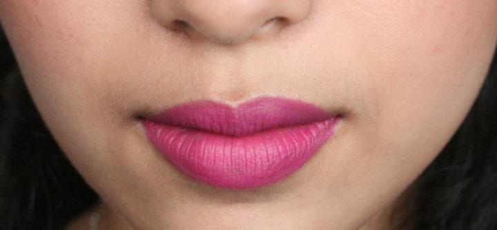 NYX soft matte lip cream prague NC42 medium tan skin dupe