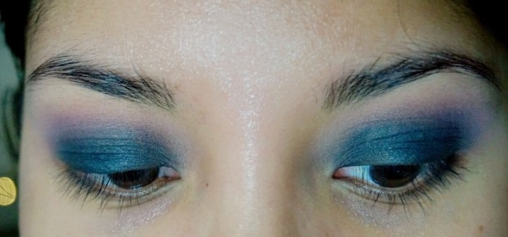 classic smokey eye blue nc40 tutorial girl and vanity petal pusher vintage nyx black bean blended