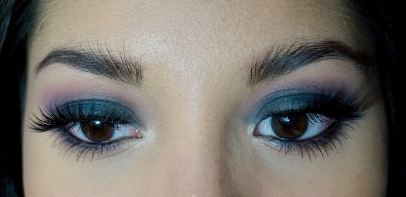 classic smokey eye blue nc40 tutorial girl and vanity petal pusher vintage nyx black bean blended house of lashes boudoir shimma shimma makeup geek