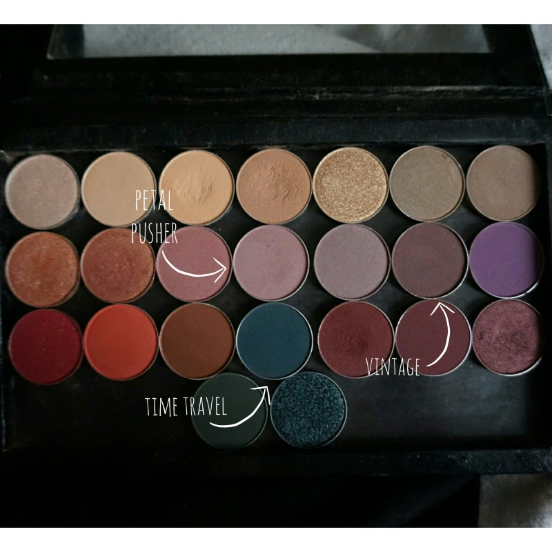 makeup geek shadows collection vintage petal pusher time travel z-palette girl and vanity