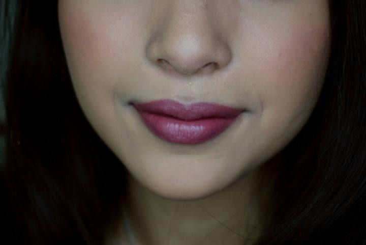 NYX soft matte lip cream rome nc40 medium tan skin swatch
