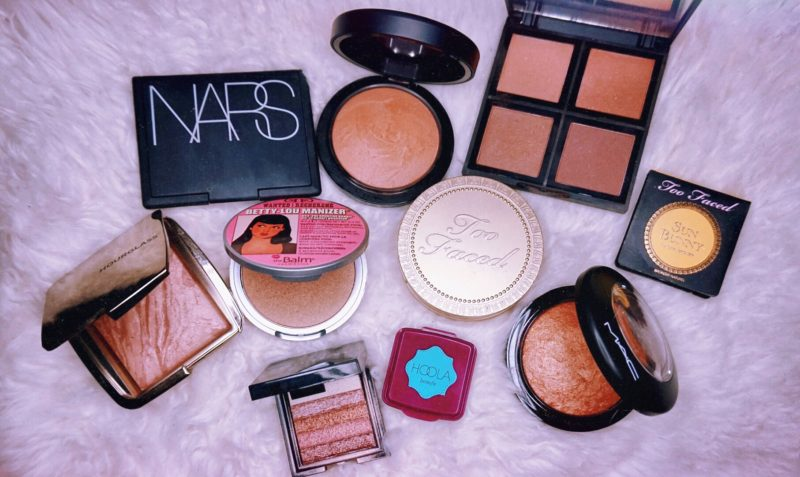 girlandvanity bronzers NARS laguna NC42 MAC give me sun! nc42 elf bronzer palette nc42 hourglass radiant bronze nc42 the balm betty lou manizer nc42 too faced chocolate soleil nc42 too faced sun bunny nc42 mac gold deposit nc42 benefit hoola nc42 bobbi brown shimmer brick nc42