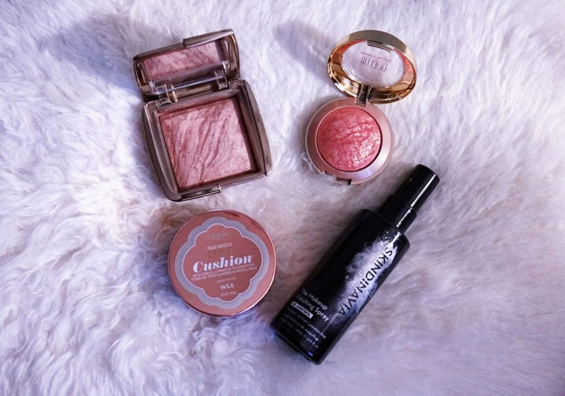 july 2016 favourites girl and vanity hourglass ambient bronzer radiant bronze nc42 milani blush rose d'oro nc42 l'oreal lumi cushion w5.5 review skindinavia oil control setting spray review