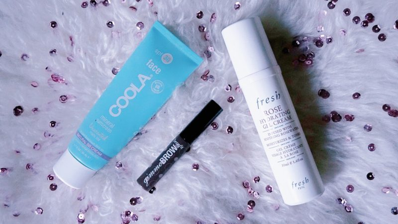 empties september 2016 coola matte sunscreen spf 30 review fresh rose hydrating gel cream review benefit gimme brow dark review