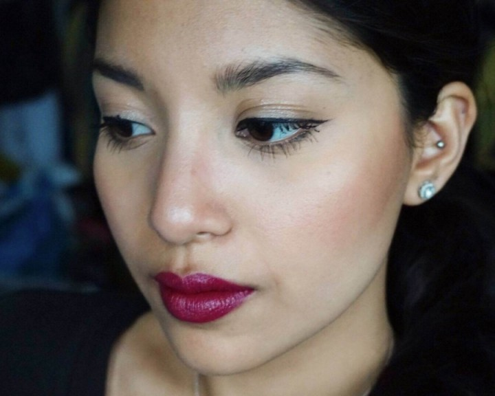 Lush Fruit Lip Gloss in Kir Royale on NC 42 skin