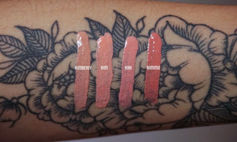 KKW X KYLIE SWATCH NC35 KKW X KYLIE SWATCH TAN SKIN KKW X KYLIE SWATCH MEDIUM TAN SKIN